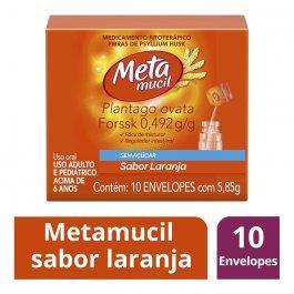 Metamucil Sabor Laranja com 10 sachês de 5,85g cada