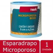 Esparadrapo Microporoso Bege Needs 5cm X 4,5m