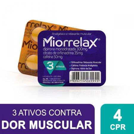 MIORRELAX BLISTER COM 4 COMPRIMIDOS