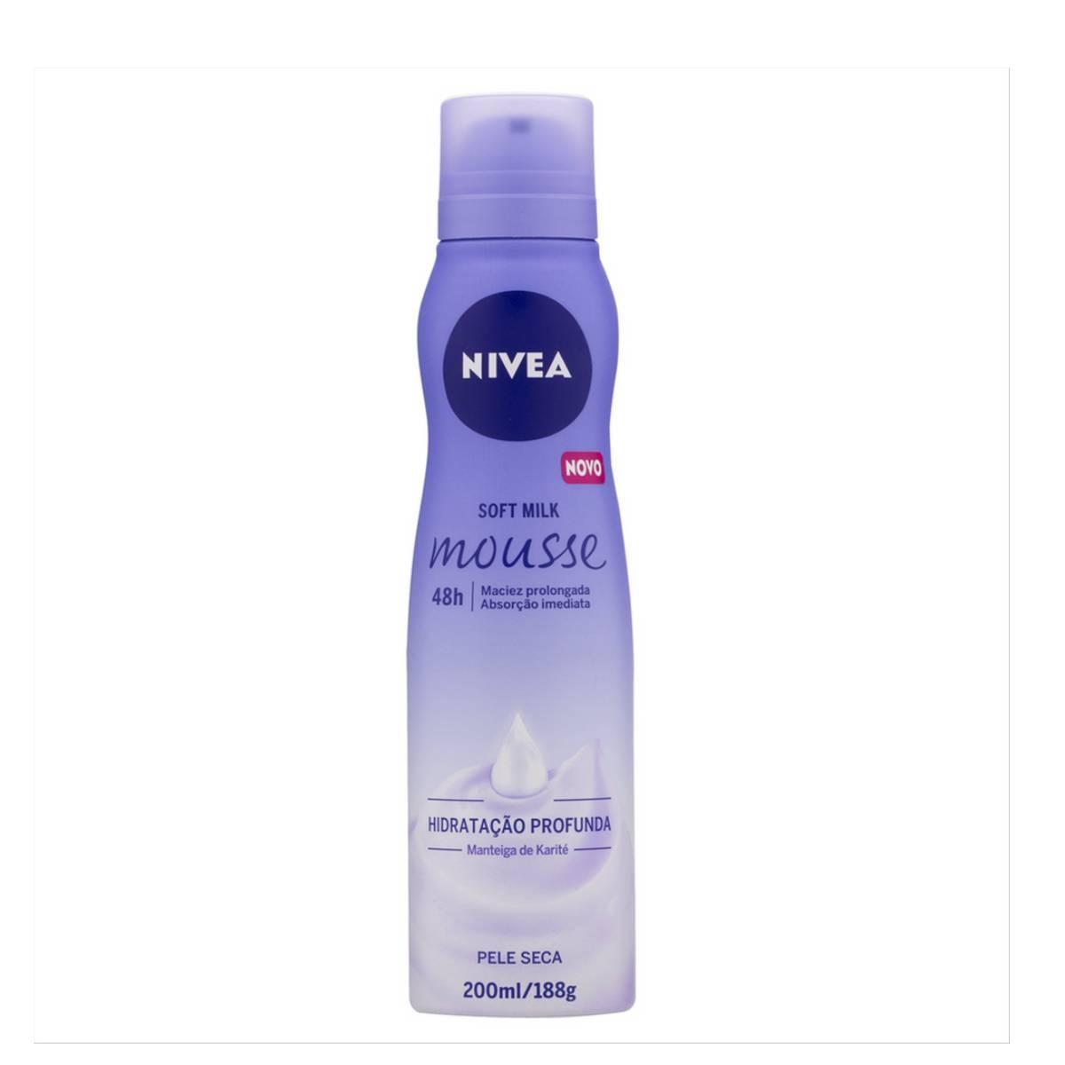 Hidratante Mousse Corporal Nivea Soft Milk Pele Seca com 200ml 200ml