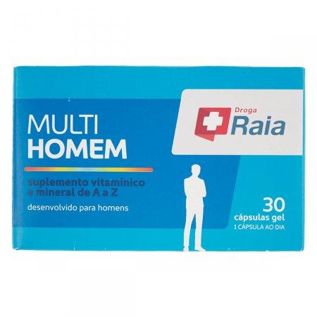 RAIA MULTI HOMEM COM 30 CAPSULAS