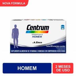 CENTRUM ESSENTIALS HOMEM SUPLEMENTO VITAMINICO 60 COMPRIMIDOS