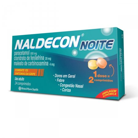 Naldecon Noite 24 Comprimidos Naldecon   Drogasil.com Foto 1