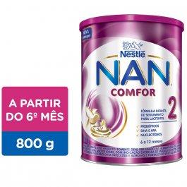 Fórmula Infantil Nestlé NAN Comfor 2 com 800g