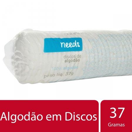 Algodão em Discos Needs 37g | Drogasil.com Foto 2