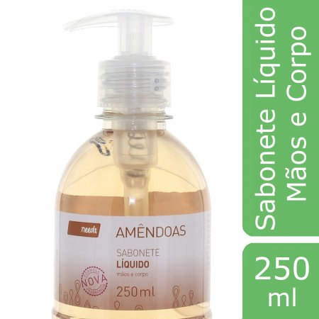 NEEDS SABONETE LIQUIDO MAOSAMENDOAS 250ML