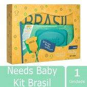 Kit Brasil Needs Baby Lenço Umedecido + Body