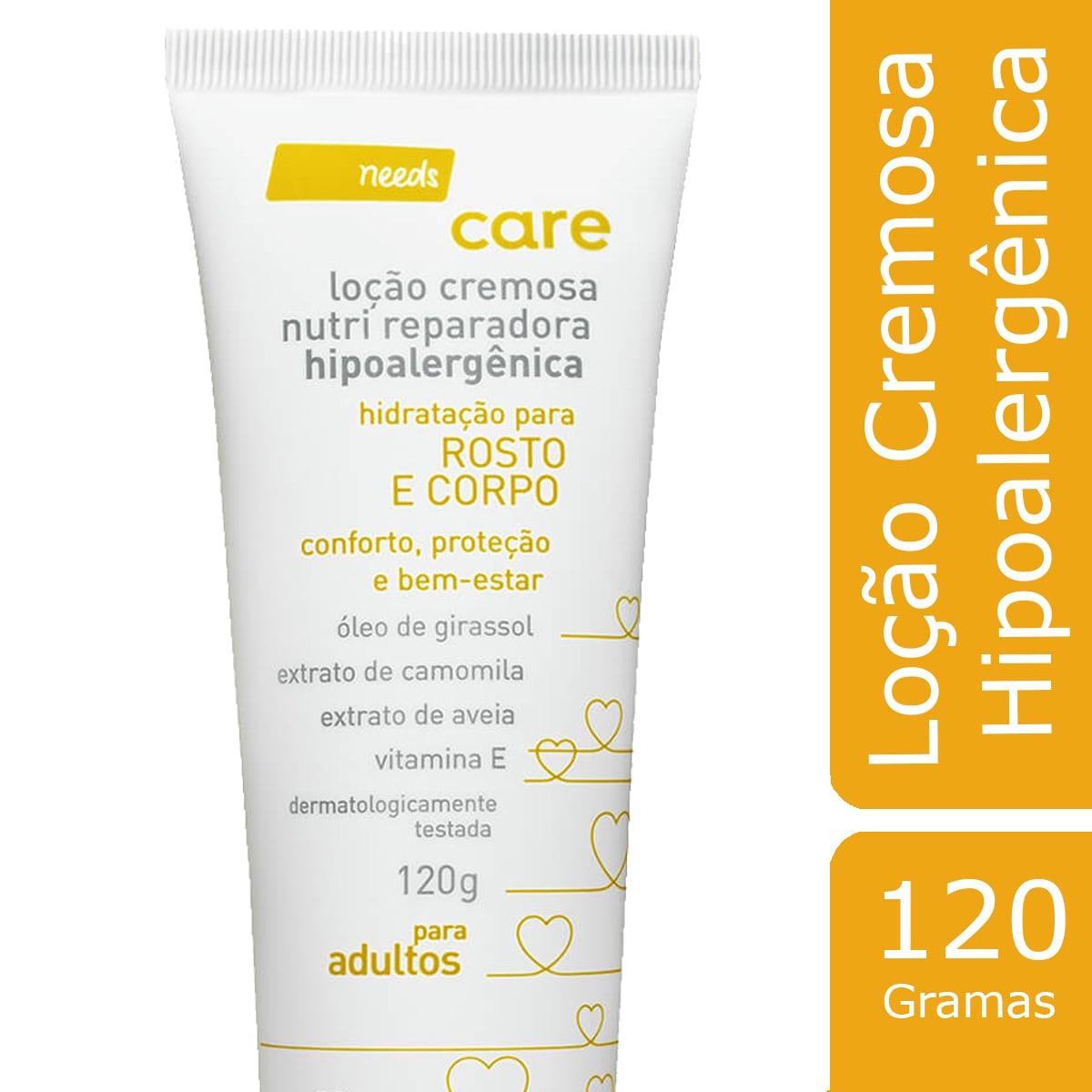 Loção Cremosa Needs Nutri Dermoprotetora Hipoalergênica 200ml
