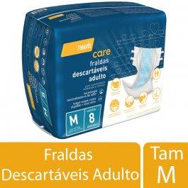Fralda Descartável Needs Care Adulto M com 8 unidades