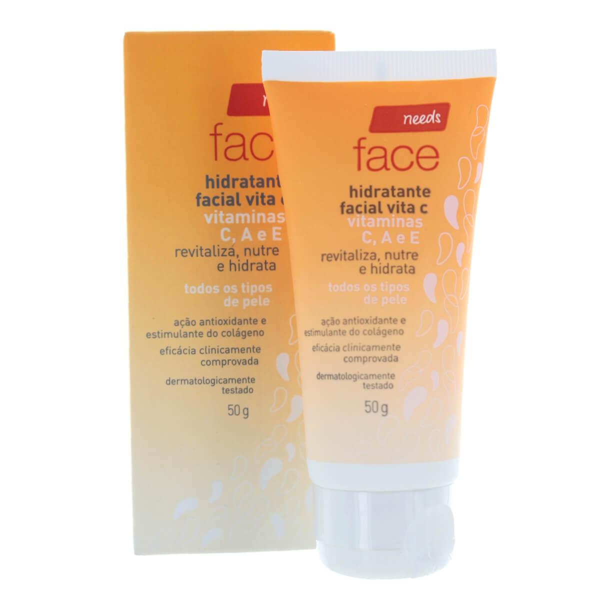 Hidratante Facial Needs Vita C com 50g 50g