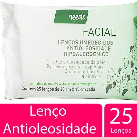 Lenços Umedecidos Facial Needs Antioleosidade Hipoalergênico