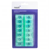 Porta Comprimidos Semanal Needs com 14 Divisórias