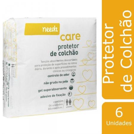 Protetor de Colchão Needs Descartável 6 Unidades   Drogasil.com Foto 2