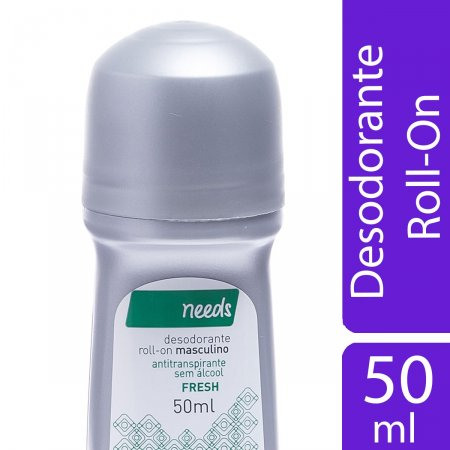 NEEDS DESODORANTE ROLL ON MASCULINO FRESH 50ML