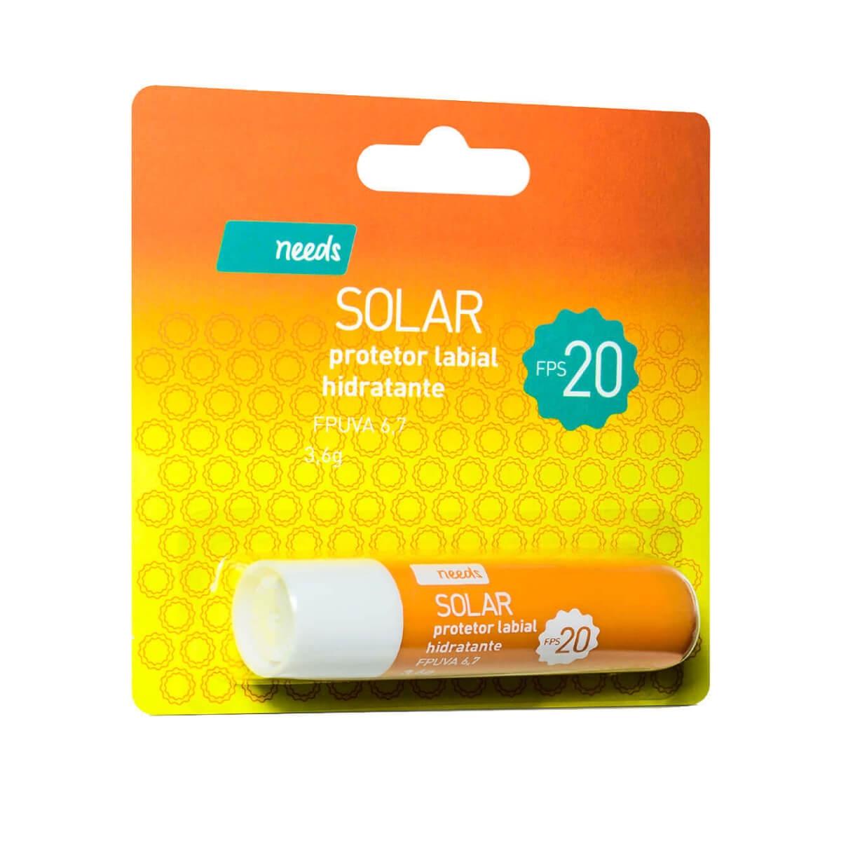 Solar Protetor Labial Needs Hidratante FPS20 3,6g