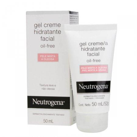 Gel Creme Hidratante Facial Neutrogena Oil Free Para Pele Mista a Oleosa