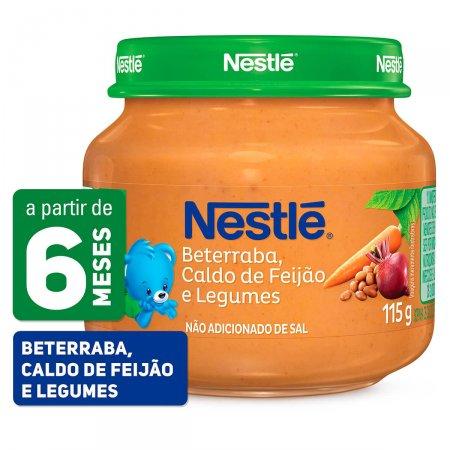 Papinha Nestlé de Beterraba, Caldo de Feijão e Legumes