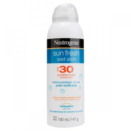 Protetor Solar Aerosol Neutrogena Sun Fresh Wet Skin FPS30