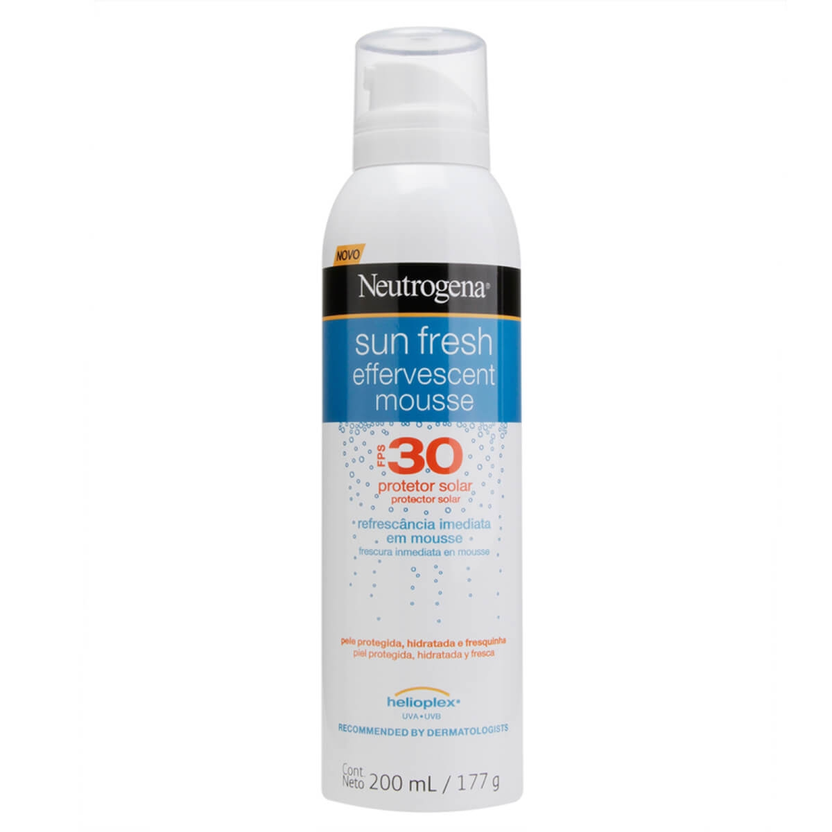 Protetor Solar Corporal Neutrogena Sun Fresh Mousse Efervescente FPS30 200ml