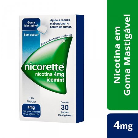 NICORETTE ANTI TABAGISMO ICE MINT 4MG 30 TABLETES