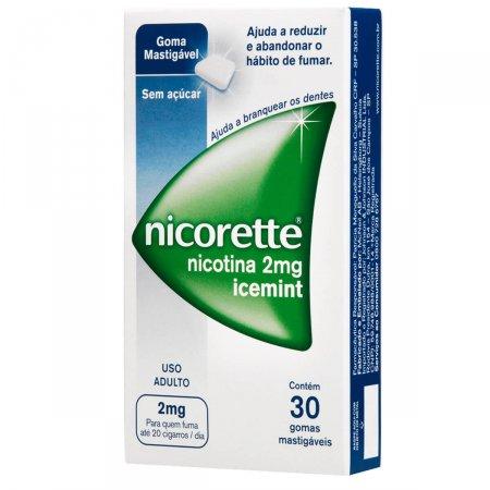 Goma Mastigável Sem Açúcar Nicorette Icemint