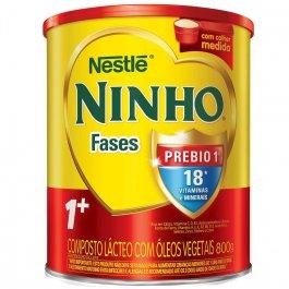 NINHO COMPOSTO LACTEO INFANTIL CRESCIMENTO PREBIO FASES 1+ 800 G LATA