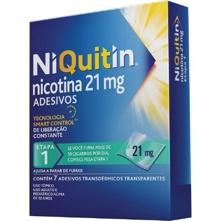 NiQuitin 21 mg 7 Adesivos GSK | Droga Raia