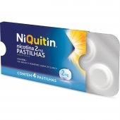 Pastilha para Parar de Fumar Niquitin 2mg com 4 unidades