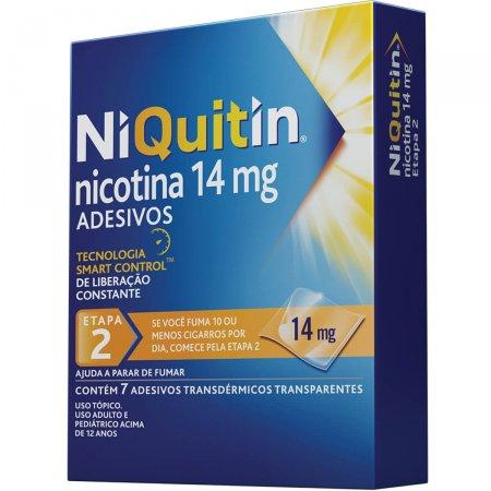 NIQUITIN ANTI TABAGISMO 14 MG 7 ADESIVOS TRANSPARENTES