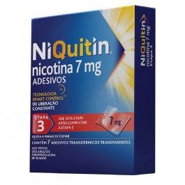 Adesivos para Parar de Fumar NiQuitin 7mg com 7 unidades