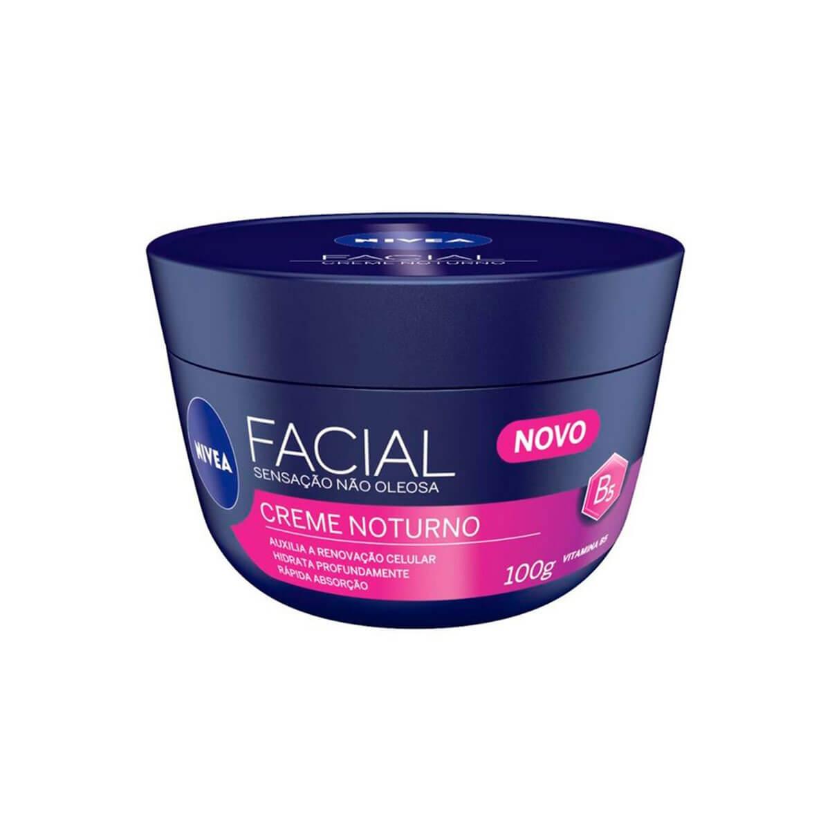 Nivea Noturno Creme Facial Hidratante com 100g 100g