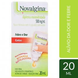 Novalgina 500mg/ml Solução Oral Gotas 20ml
