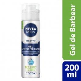 Gel de Barbear Nivea Men Sensitive 0% Álcool Pele Sensível com 200ml