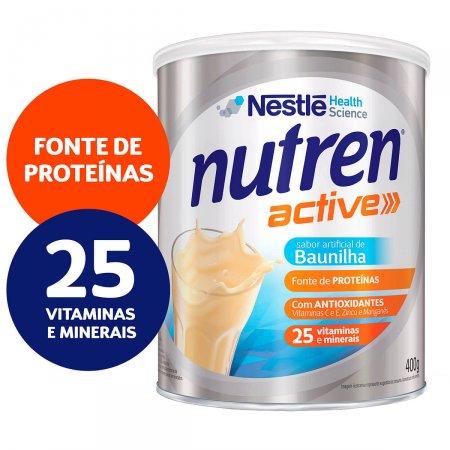 NUTREN ACTIVE SUPLEMENTO ALIMENTAR BAUNILHA PREBIO 400 G