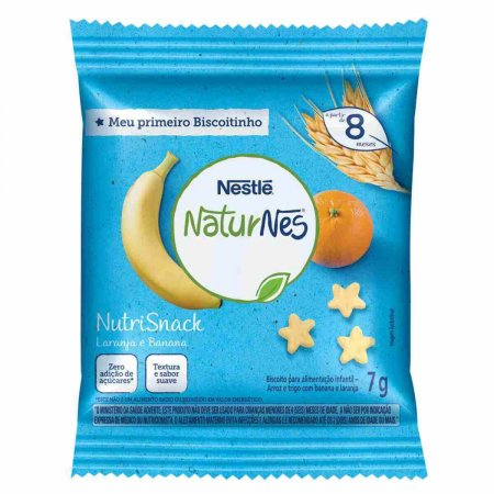 NUTRISNACK NATURNES BANANA E LARANJA 7G