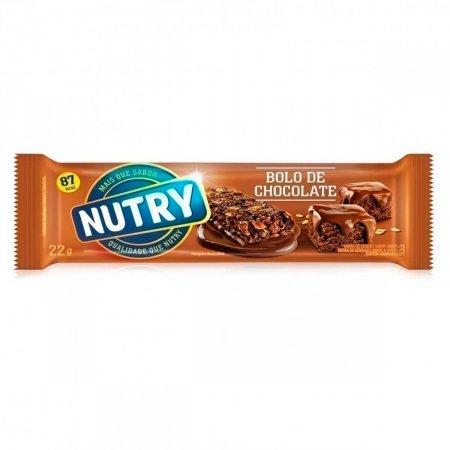 NUTRY BARRA DE CEREAIS BOLO DE CHOCOLATE 22G