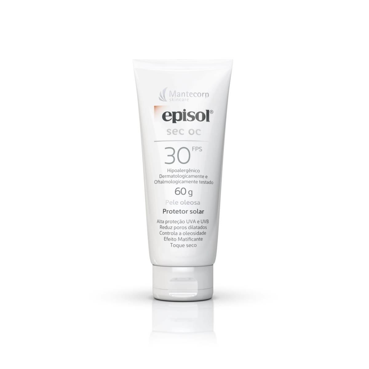Protetor Solar Facial Episol Sec OC Pele Oleosa FPS 30 com 60g 60g