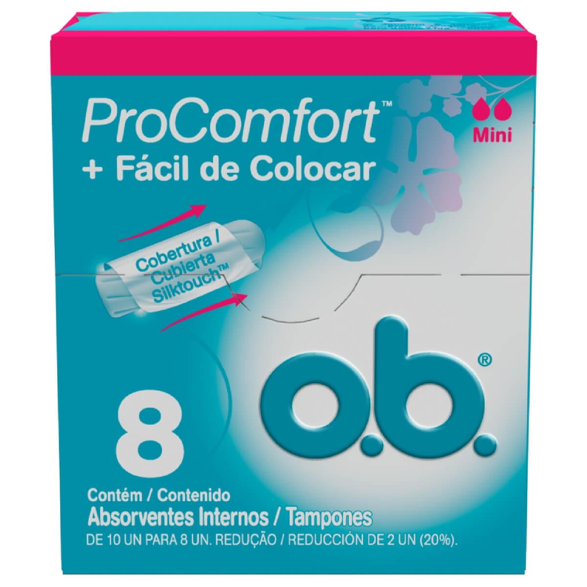 Absorvente Interno O.B. ProComfort Mini 8 Unidades