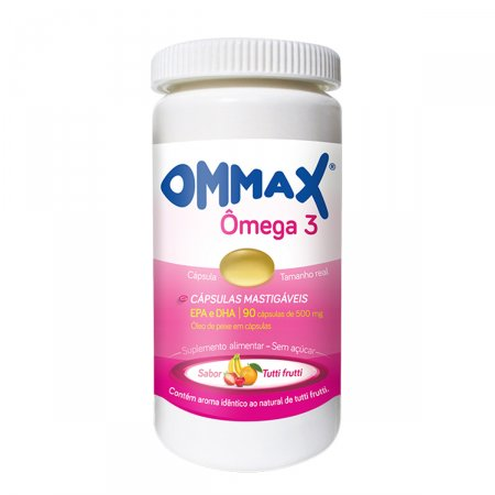 Ommax Ômega 3 Sabor Tutti-Frutti