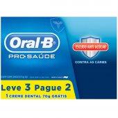 Kit Creme Dental Oral-B Pro-Saúde com Escudo Anti-Açúcar
