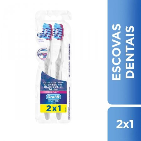 ORAL B ESCOVA DENTAL 3D WHITE LUXE PRO FLEX LEVE 2 PAGUE1