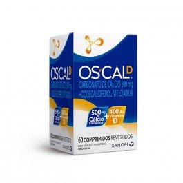 Vitamina D + Cálcio Os-Cal D 500mg + 400UI com 60 comprimidos