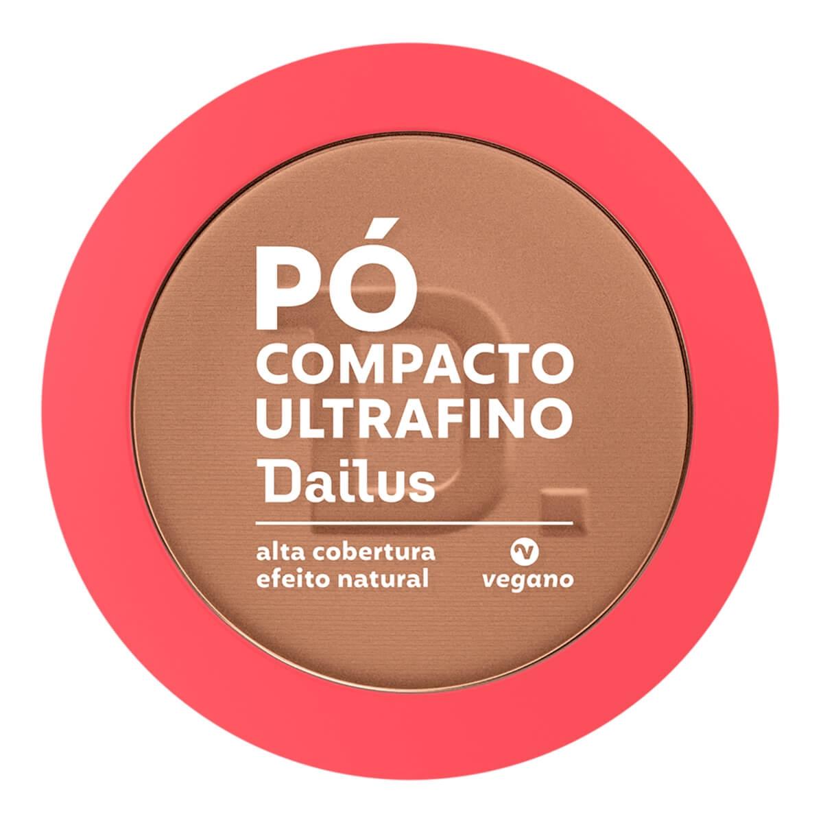 Pó Compacto Ultrafino Dailus D9 Cor Escuro 10g