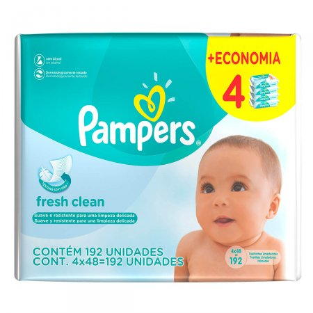 Toalhinhas Umedecidas Pampers Fresh Clean