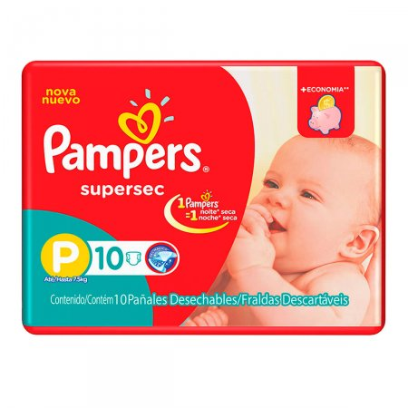 Fralda Pampers SuperSec Tamanho P
