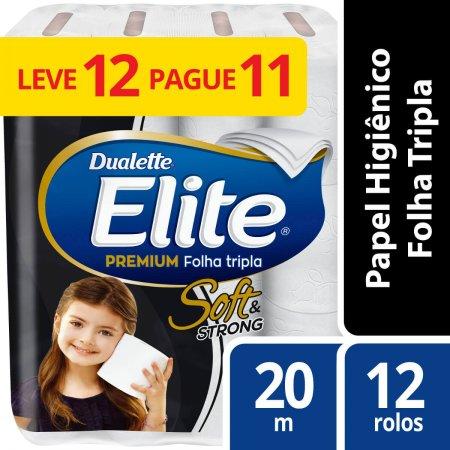 Papel Higiênico Dualette Elite Folha Tripla