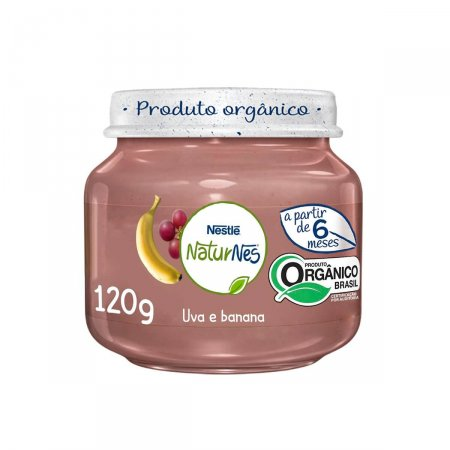 Papinha Nestlé Naturnes Orgânico Uva e Banana
