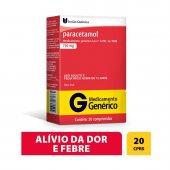Paracetamol 750mg União Química com 20 comprimidos
