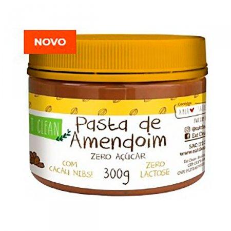 EAT CLEAN PASTA DE AMENDOIM ZERO AÇÚCAR COM CACAU NIBS 300G