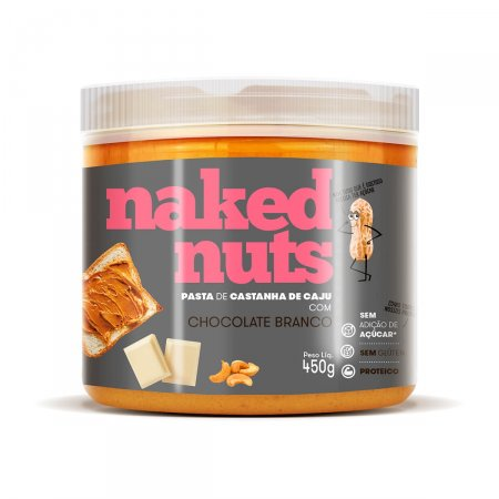 NAKED NUTS PASTA DE CASTANHA DE CAJU COM CHOCOLATE BRANCO 450G